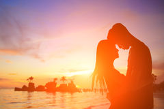 Romantische minnaars in Boracay Stock Foto