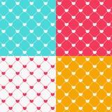 Romantische Naadloze Patroon Vectorillustratie Als achtergrond Royalty-vrije Stock Afbeelding