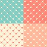 Romantische Naadloze Patroon Vectorillustratie Als achtergrond Royalty-vrije Stock Fotografie