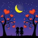 Romantische nacht Royalty-vrije Stock Foto's