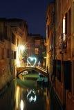 Romantische Nacht Venetië Royalty-vrije Stock Afbeeldingen