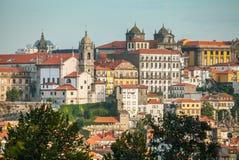 Romantische ochtend met een schilderachtige mening van historische Porto portugal Royalty-vrije Stock Fotografie
