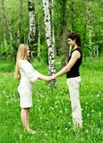 Romantische Paare Stockbild