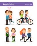 Romantische Paare eingestellt Lizenzfreie Stockbilder