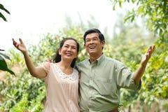Romantische Paare im Ruhestand Stockbild