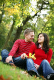 Romantische Paarserie Stockbild