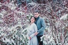 Romantische Paarstellung lizenzfreie stockfotografie