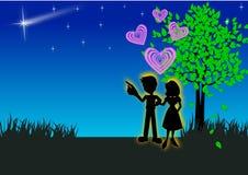 Romantische paren Stock Foto's