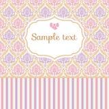 Romantische pastelkleurkaart Royalty-vrije Stock Foto's