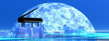 Romantische piano Royalty-vrije Stock Foto's