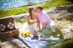 Romantische Picknick Royalty-vrije Stock Afbeelding
