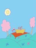 Romantische Picknick Stock Afbeeldingen