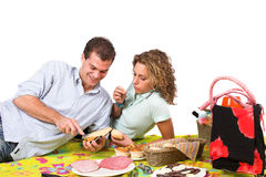 Romantische picknick in het park Royalty-vrije Stock Afbeelding