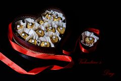 Romantische Postkarte für Valentinsgruß ` s Tag Stockbild