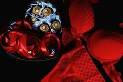 Romantische Postkarte für Valentinsgruß ` s Tag Lizenzfreie Stockfotografie