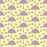 Romantische regen vector illustratie