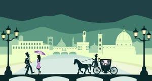 Romantische reis in Florence Royalty-vrije Stock Fotografie