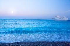 Romantische Reise der Kunst Seeam Feiertag auf einem Schiff Lizenzfreie Stockfotografie
