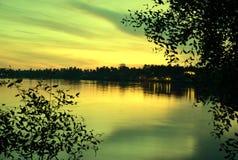 romantische rivier stock afbeelding