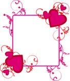 Romantische rode achtergrond Stock Fotografie