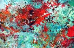 Romantische rode groene abstracte pastelkleur zachte achtergrond, tinten, de achtergrond van de waterverfverf royalty-vrije illustratie