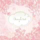 Romantische rosafarbene vektorkartenauslegung Lizenzfreies Stockfoto