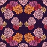 Romantische Rosen des nahtlosen Mustervektors Lizenzfreie Stockbilder