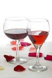 Romantische Rottöne Stockfotos