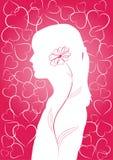 Romantische roze achtergrond Stock Afbeeldingen