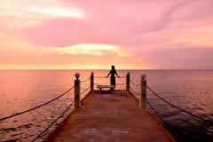 romantische roze hemel royalty-vrije stock foto
