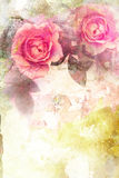 Romantische roze rozenachtergrond Royalty-vrije Stock Fotografie