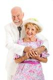 Romantische südliche ältere Paare stockfoto