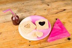 Romantische sandwich Stock Afbeeldingen