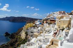 Romantische Santorini - Grieks Eiland Stock Foto