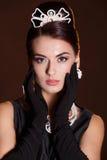 Romantische Schönheit Retro- Art Retro- Portrait der Frau Stockfoto
