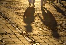 Romantische Schatten Stockbild