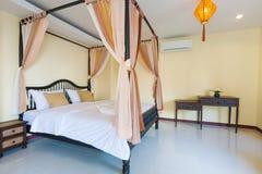 Romantische slaapkamer Royalty-vrije Stock Fotografie