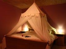 Romantische Slaapkamer Stock Foto