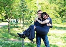 Romantische Stimmung eines Paares in der Liebe Lizenzfreies Stockfoto
