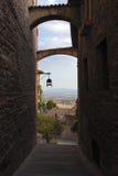 Romantische straten od Assisi Stock Afbeeldingen