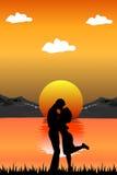 Romantische Szene Lizenzfreies Stockbild