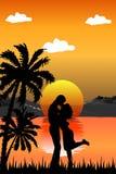 Romantische Szene Lizenzfreies Stockfoto