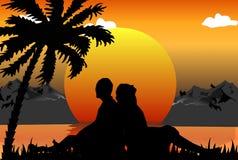 Romantische Szene Stockbilder