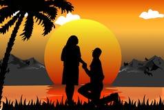 Romantische Szene Stockbild
