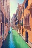 Romantische Szene in Venedig, Italien Lizenzfreies Stockfoto