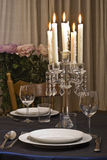 Romantische Tabelle Lizenzfreies Stockfoto