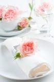 Romantische Tabelleneinstellung Stockfoto