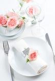 Romantische Tabelleneinstellung Lizenzfreies Stockbild
