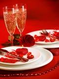 Romantische Tabelleneinstellung Stockbild