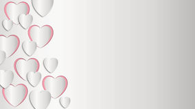 Romantische Tapeten mit Herzen Stockfoto